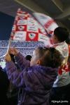Niñas y niños egipcios animando por igual / Mángel Sevilla. El Cairo