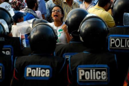 La joven egipcia Mahienour encarcelada