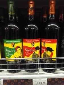 Vino Español en Rusia. Precio: unos 2,60 euros. / Mángel Sevilla