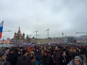 Calles de Moscú saturadas de personas en apoyo a Boris Nemtsov / mangelsevilla