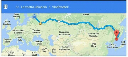 Ruta estimada en Google Maps